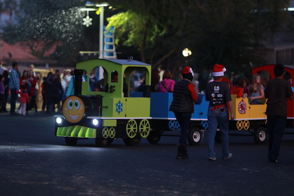 Ahwatukee Christmas event children's train rides